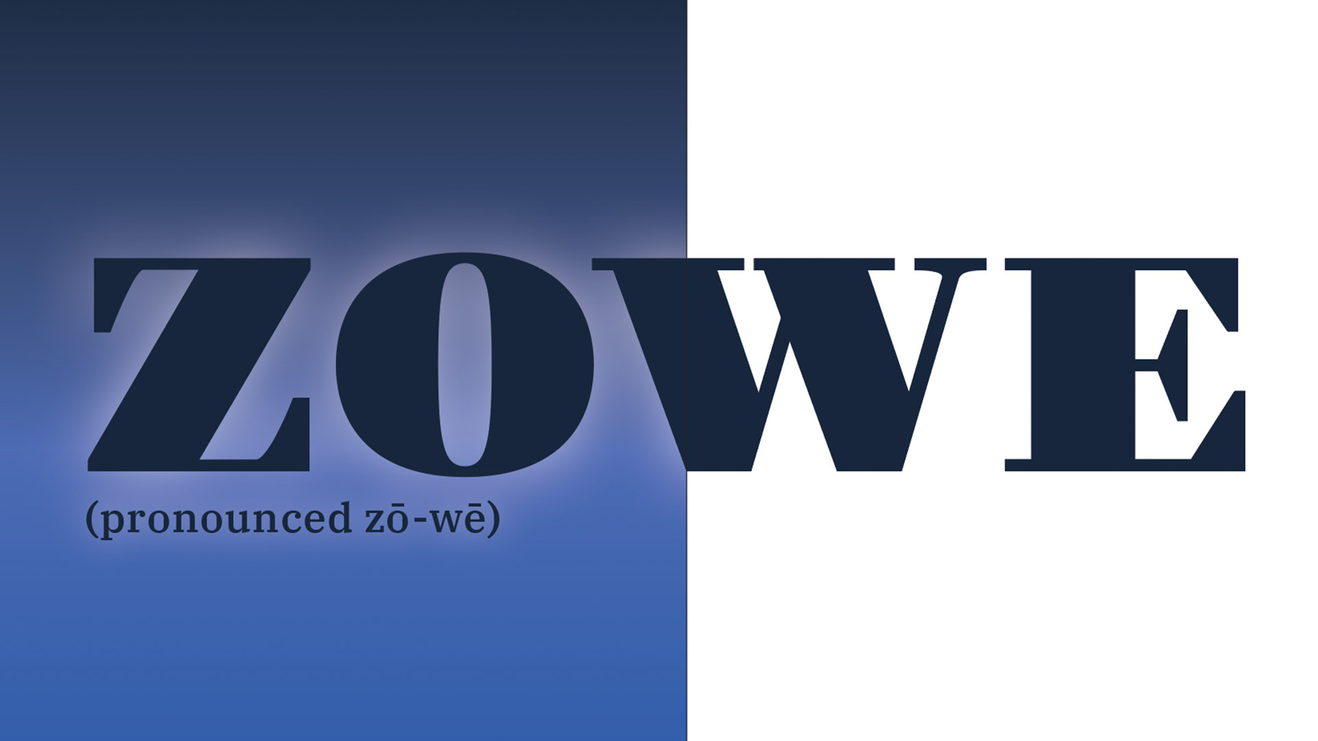 "The word ""Zowe"" appears on a blue background."