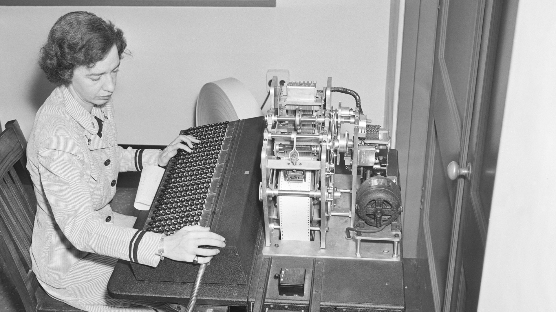 Rear Admiral Grace Brewster Murray Hopper creates one of the world's first compilers.