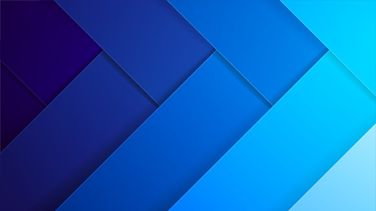 Shades of gradient blue strips overlapping with one another diagonally.