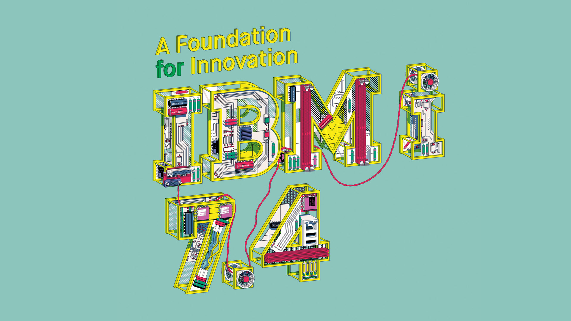 """A foundation for Innovation IBM i 7.4"" against a teal background."