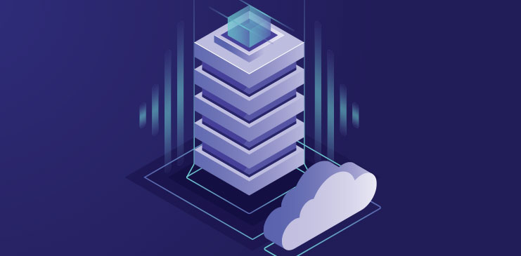 Animated cloud and tower