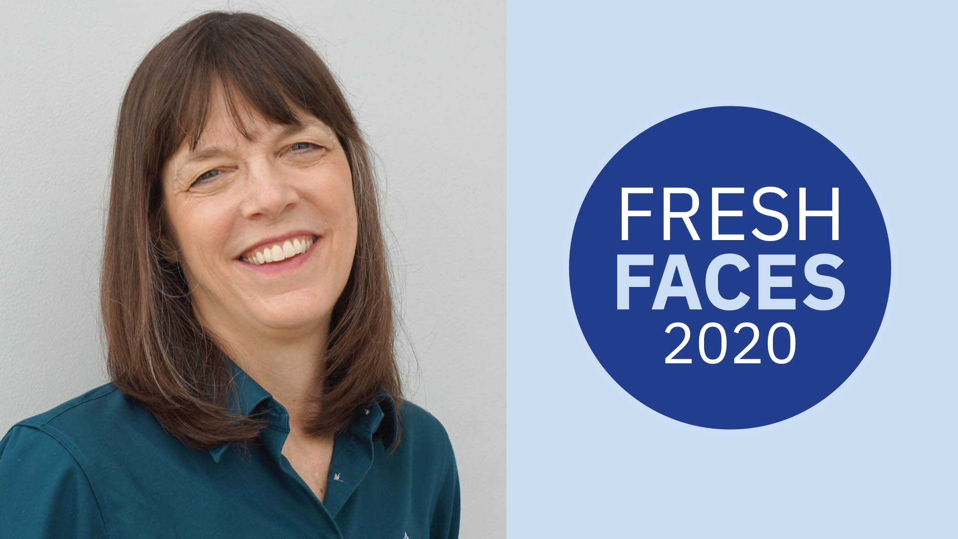 Susan Gantner with Fresh Faces Logo
