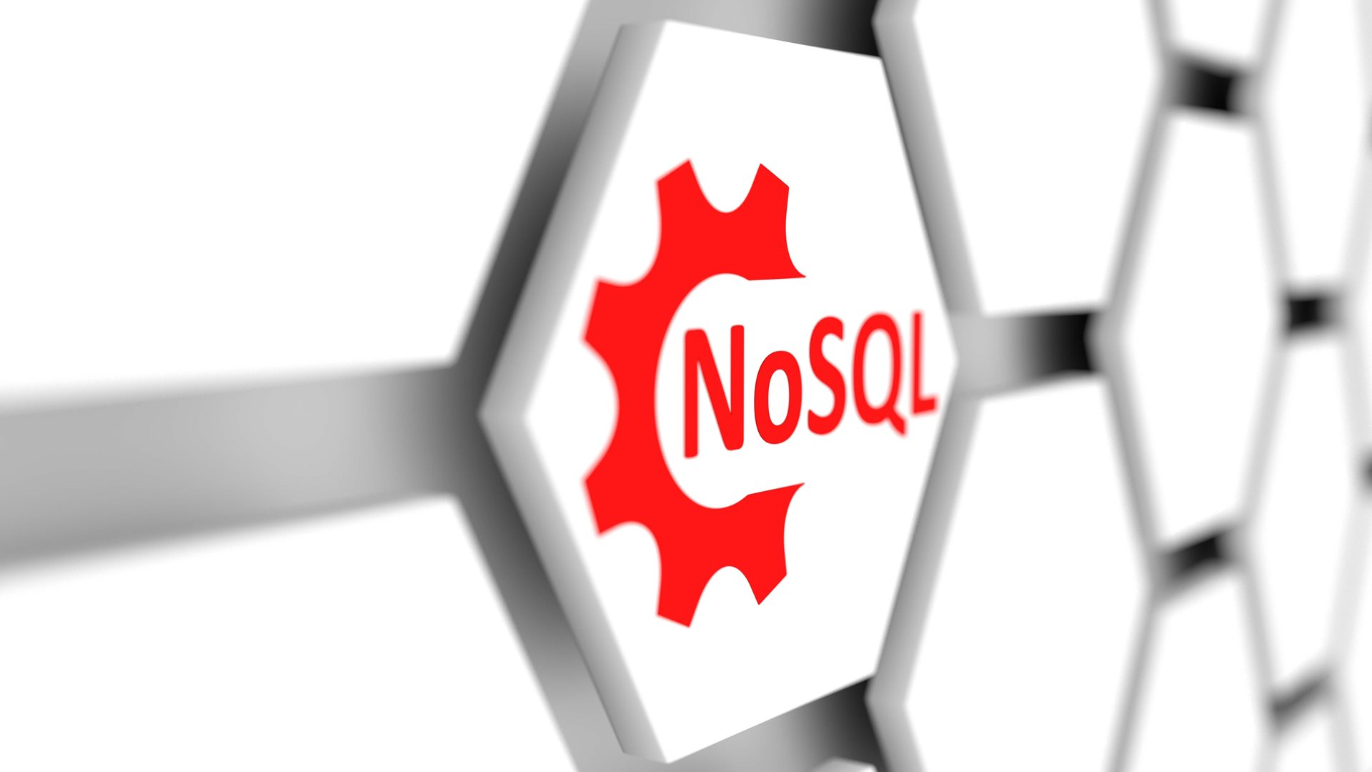 """NoSQL"" in red on white gears"